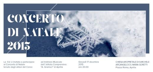 Concerto di Natale 2015 - Invito