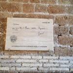 Iscrizione in dialetto romano del poeta Gabriele D'Annunzio su Menotti