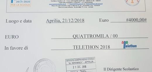 assegno telethon 2018