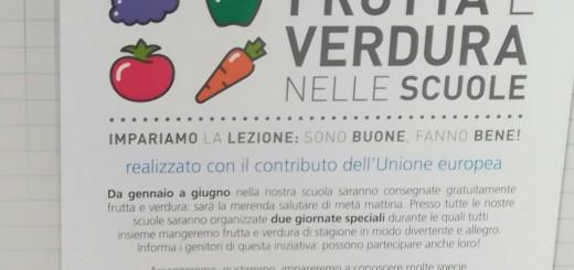 Frutta e verdura nelle scuole.